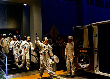 Apollo 11 crew readying for departure